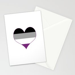 Asexual Heart Stationery Cards