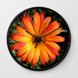 Garden Flowr - Orange Wall Clock