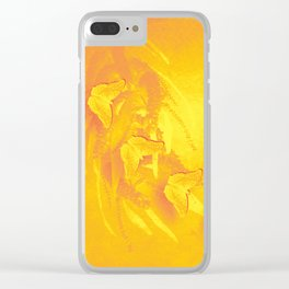 Vibrant butterflies and wattle Clear iPhone Case