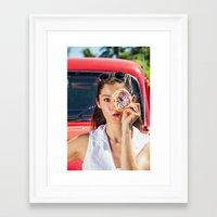 doughnut Framed Art Prints featuring Doughnut by Photobyrne