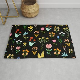 TINY LITTE COLORFUL  FLOWER PATTERN Rug