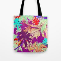 palm trees Tote Bags featuring Palm Trees by Marcella Wylie