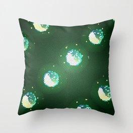 Galactic Snow Globes Throw Pillow