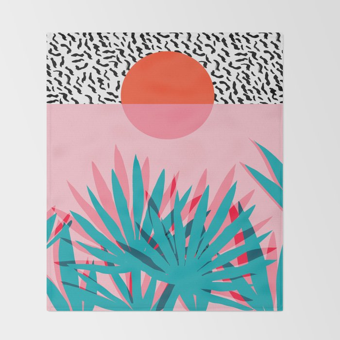 Whoa - palm sunrise southwest california palm beach sun city los angeles retro palm springs resort  Throw Blanket