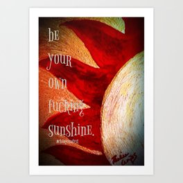 Be Your Own Effing Sunshine  Art Print