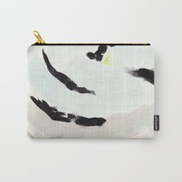 Twirl: Grey Carry-All Pouch