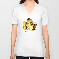 potato V-neck T-shirts featuring Potato Skin by Sam Sinister