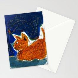 Socca Ginger Cat Art Stationery Cards