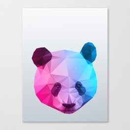 Polygon Panda Bear Canvas Print