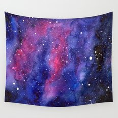 Nebula Galaxy Watercolor Space Sky Wall Tapestry