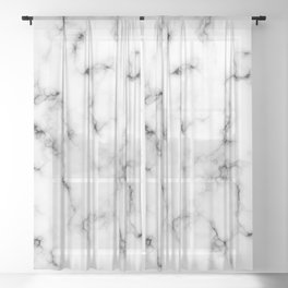 White marble texture no. 4 Sheer Curtain