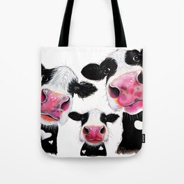 CoW PRiNT ANiMaL PRiNT ' THe NoSeY FaMiLY ' BY SHiRLeY MacARTHuR Tote Bag