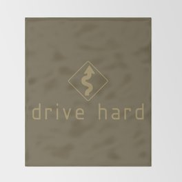 Drive Hard v4 HQvector Throw Blanket