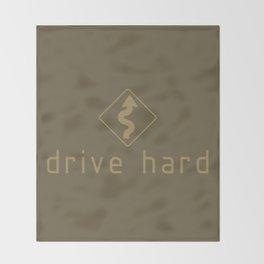Drive Hard v4 HQvector Throw Blanket
