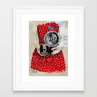 the flash Framed Art Prints featuring flash by LouiJoverArt