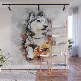 Tika'ani our Siberian Husky Wall Mural