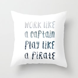 Play Like A Pirate Throw Pillow