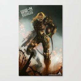 World War-Nintendo: Samus Canvas Print