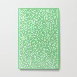 Connectivity - White on Mint Green Metal Print