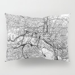Vintage Map of Richmond Virginia (1934) BW Pillow Sham