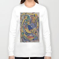 bookworm Long Sleeve T-shirts featuring Bookworm by Art Fitzgerald