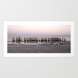 Bombay Beach at Sunset Art Print