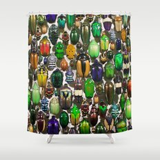 Beetle Mania Shower Curtain