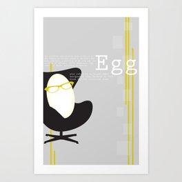 Egg Art Print