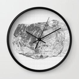 silicon dioxide (SiO2) Wall Clock