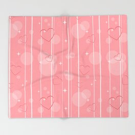 Heart shapes Throw Blanket