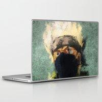 kakashi Laptop & iPad Skins featuring Grunge Copy Ninja by jpmdesign