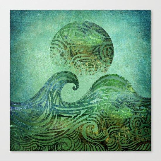 Tidal Moon Canvas Print