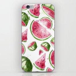 Juicy Watercolor Watermelons iPhone Skin