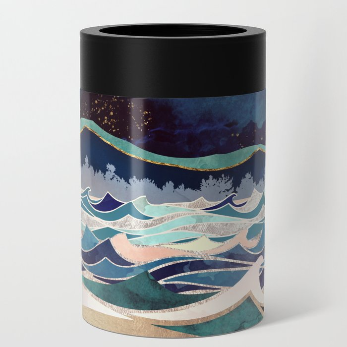 Moonlit Ocean Can Cooler