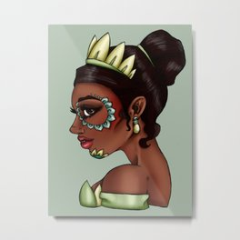 Day of the Dead Tiana - The Princess and the Frog Metal Print