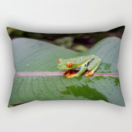 RED-EYED FEAF FROG Rectangular Pillow