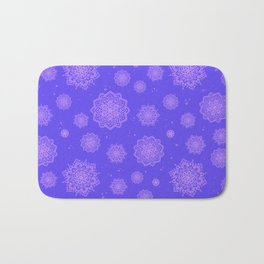 Feathered Mandala Pattern - Violet Bath Mat