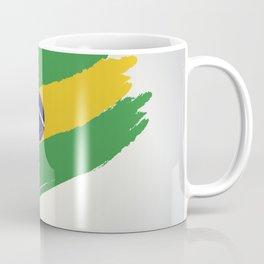 Abstract Brazil Flag Design Coffee Mug