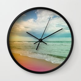 Beach in Colours Wall Clock