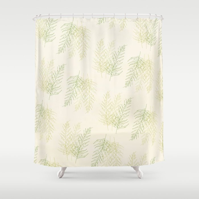 Ferns All Over Shower Curtain