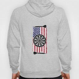 Proud American USA Flag Dart Player Gift Hoody