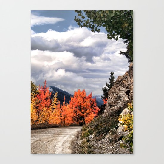Autumn Mountain Road Canvas Print