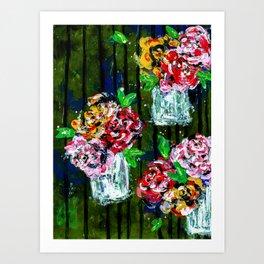 Buckets of Flowers Art Print