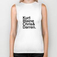 darren criss Biker Tanks featuring KurtBlaineChris&Darren by Annie