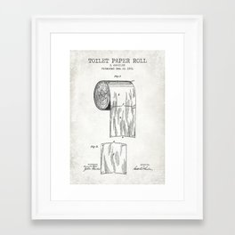 Toilet Paper Roll Old Canvas Framed Art Print