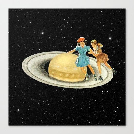 Stroll on Saturn Canvas Print