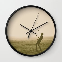Juggler 4 Wall Clock