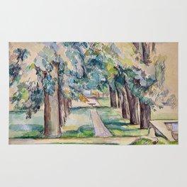 1893 - Paul Cezanne - Avenue of Chestnut Trees at the Jas de Bouffan Rug