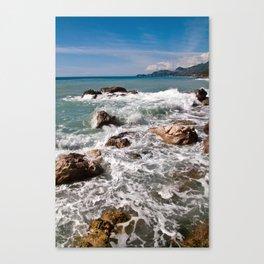 Power of Sea - Sicily Canvas Print