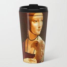 Lady With Dobby Travel Mug